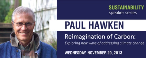 Paul Hawken is visiting UofA