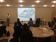 Dr. Craig presenting on black flies