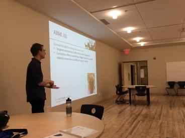 Kurt Illerbrum presenting about ABMI
